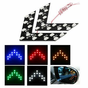 2x Car Side Rear View Mirror 14SMD LED Lamp Hidden Turn Signal Light Accessories