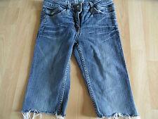 S.OLIVER coole abgeschnittene 3/4 Jeans m. Fransen Gr. 152  RC715