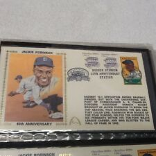 DODGERS Jackie ROBINSON 40th ANNIVERSARY  FIRST DAY COVER