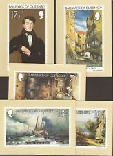 Guernsey 1980. Unused Maxi Cards. Peter Le Lievre x 5. Full Set. Painter