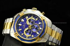 "Invicta Men's 48mm Aviator ""Blue Devil"" Chrono Two-Tone Stainless Steel Watch"