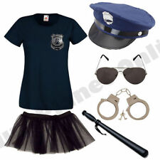 LADIES AMERICAN POLICE WOMAN COP FANCY DRESS COSTUME HEN PARTY..