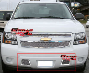 For 2007-2014 Tahoe/Avalanche/Suburban Bumper Mesh Grille Grill Insert