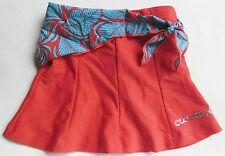Ensemble de plage : jupe paréo style vahiné rouge et bleu 12 ans - Clayeux Plage