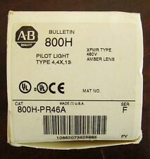 ALLEN BRADLEY Type XFMR Amber Lens Pilot Light 480V 800H PR46A