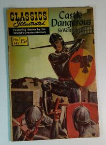 Classics Illustrated 141 HRN 167 Castle Dangerous by Sir Walter Scott 1957
