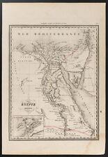 1840 - Carte de l'Égypte ancienne (Dufour & Picquet) Antique map ancient egypt
