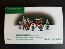 Department 56 North Pole Reindeer Training Camp - Set of 2  #56436 Retired & New