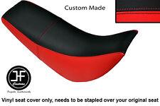 BLACK & RED Automotive in vinile personalizzati si adatta HYOSUNG RX 125 DUAL SEAT COVER solo