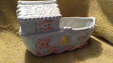 Vintage Napco Noah's Ark Planter / Baby Animals Planter / Baby's Room Decor