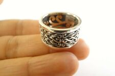No Stone Balinese Spinner 925 Sterling Silver Band Ring Size 7