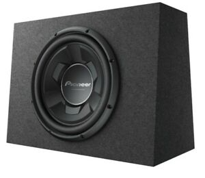 "New Pioneer TS-WX126B 1300 Watts 12"" Pre Loaded Compact Subwoofer Enclosure Box"