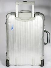 Rrimowa Koffer Aluminium 2 Wheels Trolley Cabin Size Silver Integral Vintage