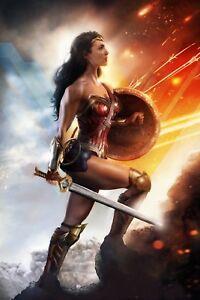 Wonder Women - Gal Gadot Dc Comics Justice Leaugue Superhero Canvas Pictures