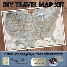 DIY Executive US Push Pin Travel Map Kit