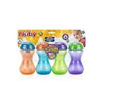 Nuby Clik It No Spill Cup - 10 Oz, 4 Pack. 6+ Months