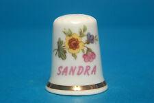 Girl's Name 'Sandra' China Thimble B/93