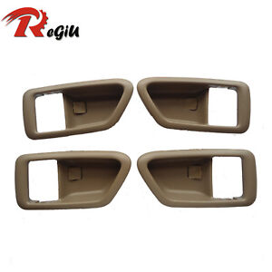 For 97-01 Toyota Camry Inside Front Rear Left Right Trim Door Handle Cover 1Set