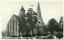 REAL PHOTO POSTCARD OF ALL SAINTS CHURCH, WOODCHURCH, (NEAR ASHFORD), KENT