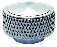 """Knurled 1/4""""-20 Chrome Aluminum Air Cleaner Wing Nut Chevy Ford Mopar"""