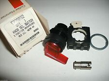 Cutler Hammer E22Sbg2 Knob Selector Switch 3 Position Maintained Red Illuminated