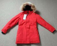 Canada Goose Victoria Parka Ladies Damen Down Daunen Jacke Coyote Fur Red S L