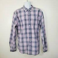 Gap Mens XXL Shirt Slim Fit Purple Plaid Long Sleeve Cotton