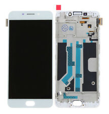 For OPPO R9 R9tm LCD Display Touch Screen Parts Replace Repair with Frame White