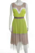 BCBG Max Azria Sweet Lemon Sorbet Sleeveless Dress Size 6 New $338 10313402