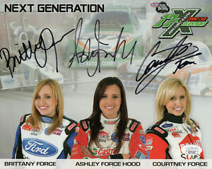 FORCE FAMILY HAND SIGNED 8x10 COLOR PHOTO     SIGNED BY ALL 3 SEXY SISTERS   JSA