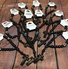 Rosary Beads Bracelet Wooden Prayer Rosaries Our Lady Catholic Car