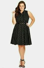 City Chic Machine Washable Polka Dot Dresses for Women