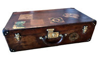 Beautiful Luxury Leather Antique Louis Vuitton Suitcase/Trunk/Luggage - Restored