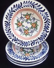 TALAVERA TABLETOPS UNLIMITED HAND PAINTED LARGE RIMMED SOUP BOWL S *SET 4*