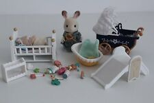 Sylvanian Families Nursery Furniture Pram, Toys, Bath, Baby, Figures And More