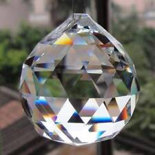 30mm Glass Faceted Crystal Ball Chandelier Hanging Pendant DIY Light Home Decor