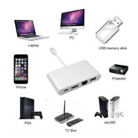 3 In 1Mini Display Port DP Thunderbolt To DVI/VGA/HDMI Adapter Cable For MacBook