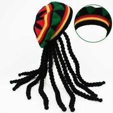 Jamaican Headgear Baggy Cap Rasta Beanie Hat Wig Dreadlocks Halloween Reggae ilo