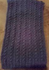 hand-knitted mohair scarf( dark blue)