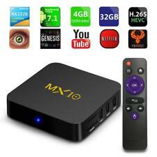 MX10 4GB+32GB Android 8.1 Cuatro Núcleos TV Box Reproductor de Medios HD WIFI 4K