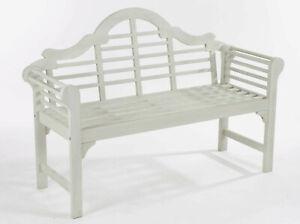 Wooden Garden Lutyens Style Bench - B Grade Stock   Light / Dark / Off White Oil