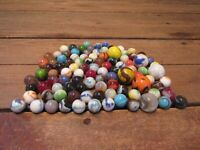 Vintage Antique Marble Lot Loose Shooters, clay marbles, etc