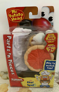 Rare (2007) Mr. Potato Head Chef Spud Parts n' Pieces Set New in Box – Ages 2+