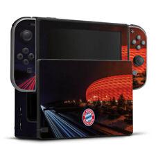 Nintendo Switch Folie Aufkleber Skin - Allianz Arena bei Nacht FC Bayern München