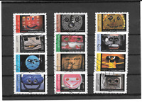FRANCE 2017. LES MASQUES .SERIE COMPLETE DE 12 TIMBRES AUTOADHESIFS OBLITERES