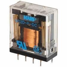 1x NC2D-P-DC12V 5 A DPDT Through Hole High Power Dual contact relais de puissance