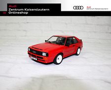 Audi Sport quattro Miniatur Tornardorot Maßstab 1:18 Audi Tradition Modellauto