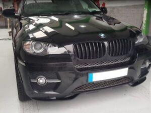 For BMW X6 E71 Performance Front Bumper spoiler Valance M Splitter Flap Diffuser