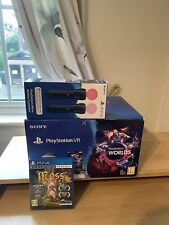 PS4 VR Boxed Bundle , PSVR V2 HEADSET, CAMERA ,Boxed Move Controllers  & 1 Game