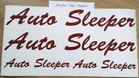 Auto Sleeper Motorhome Decals Stickers Choice Sizes/Colours - 4 Piece